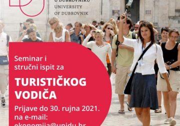Na Sveučilištu u Dubrovniku u tijeku prijave za seminar za turističke vodiče