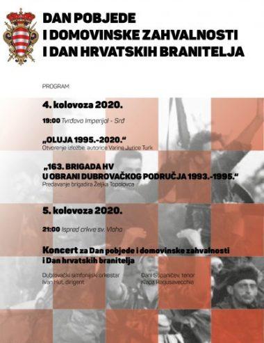 Dvodnevni program obilježavanja Dana pobjede i domovinske zahvalnosti i Dana hrvatskih branitelja