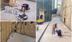 Nastavlja se sanacija pločnika unutar povijesne jezgre Grada
