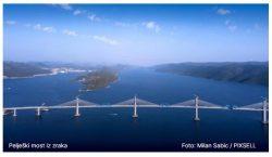 Svečanost povodom spajanja Pelješkog mosta